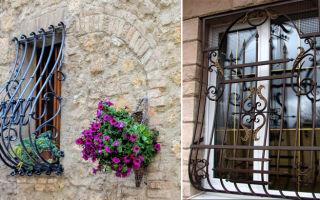 Кованые изделия в интерьере: решетки на окнах и дверях
