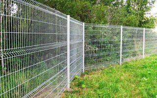 Забор из сварной оцинкованной сетки — гарантия защиты