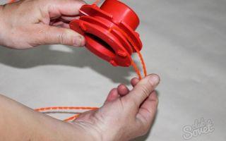 Как намотать леску на катушку триммера: способы наматывания и видео