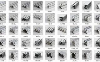 Описание т-образных алюминиевых профилей