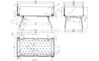 Изготовление вертикальных мангалов: чертежи и инструкция