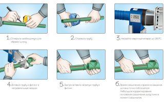 Как правильно выполняется сварка полипропиленовых труб своими руками