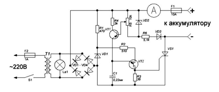 Регулятор тока зарядного устройства Схема-авто поделки